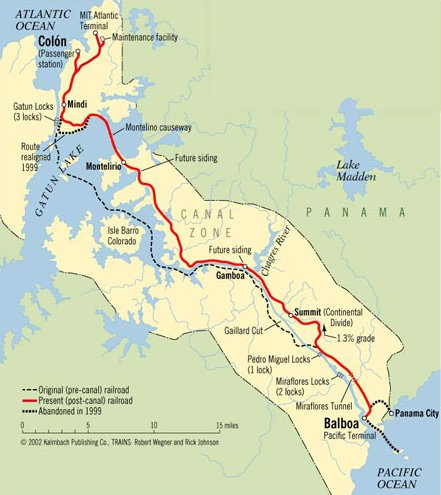 Panama Rail Road Maps